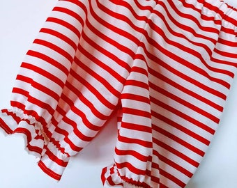Baby and Toddler Girls Striped Pirate or Clown Pantaloons
