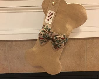 Personalized Dog Bone Stocking, Dog Stocking, Dog Christmas Stocking, Christmas Stocking, Pet Stocking, Christmas, Christmas Gift for Dogs