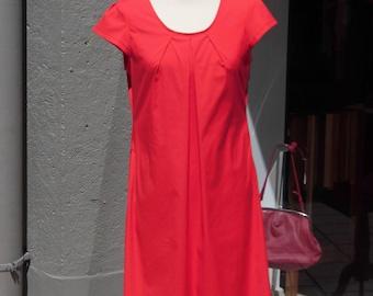 Red shirt dress