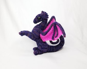 Little Baby Juvenile Purple Crochet Dragon Stuffed Toy