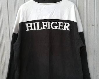 Tommy Hilfiger Big Logo Spellout Sweatshirt Jumper Sweater Size XL