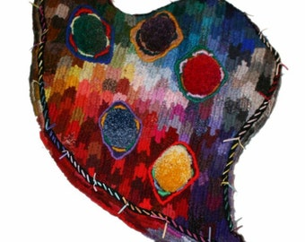 Imperious Heart - floor cushion or wall art (David Wolfe, 2015)