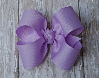 "Lavender Hairbow Lavender Large Hair Bow 4"" Alligator Clip Girls Hairbow Lavender Hair Bow Lavender Large Bow 4 Inch Hair Bow"