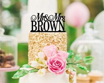 Customized Wedding Cake Topper, Personalized Cake Topper for Wedding, Custom Personalized Wedding Cake Topper, Mr and Mrs Cake Topper