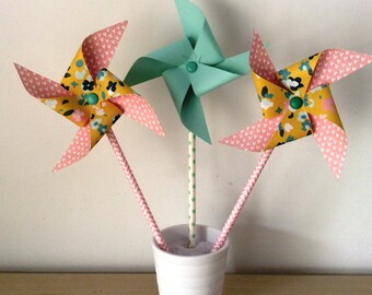 Windmills, flowers