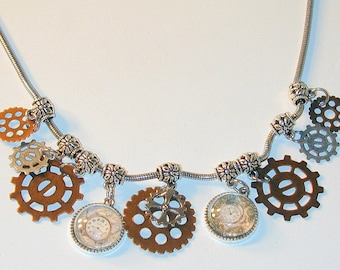 Steampunk Inspired Charm Necklace #2