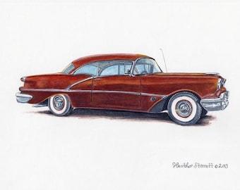 Oldsmobile Super 88 ~ Giclee Fine Art Print