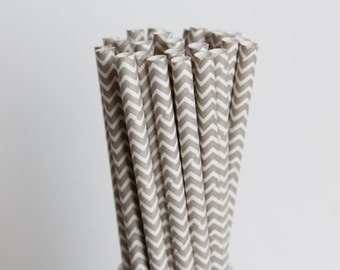 Grey Chevron Paper Straws-Chevron Straws-Gray Straws-Wedding Straws-Mason Jar Straws-Party Straws-Grey Straws-Zigzag Straws-Silver Straws