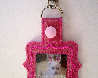 In The Hoop Photo Frame Key Fob (4x4) Instant digital download