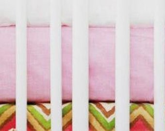 Street of Dreams Pink and Yellow Crib Baby Bedding | Crib Sheet