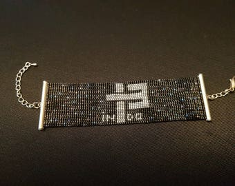 Miyuki Indochina 13 beadwoven Cuff Bracelet