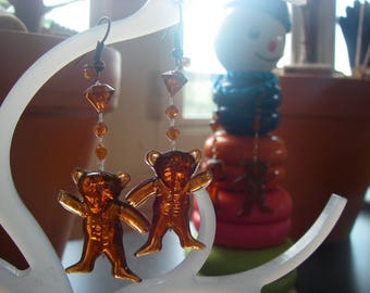 """The Abominable bear"" earrings"