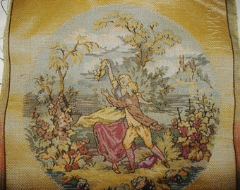 Vintage fabric Panels • Edwardian Couples • France Panels plus Fabric • Lot
