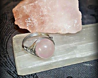 Rose Quartz Ring for Loving & Peaceful Energy