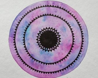 "original painting ""purple mandala"""