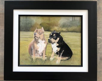 Pit Bull Art, Pet Portraits, Pet Portrait Art, Pit Bull Paintings, Pit Bull Lovers, Pit Bull Gifts, Pit Bull Illustrations, Pastel Paintings