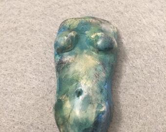 Tosha-Matte Pastel Polymer Clay Torso Cabochon