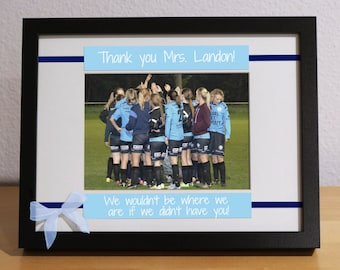 Team Mom Gift, Gift for Team Mom, Thank you Coach, Personalized Picture Frame, Custom, Football, Basketball, Tennis, Soccer, Volleyball