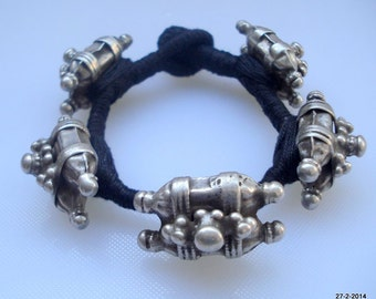 vintage antique old silver cuff bracelet bangle tribal bellydance jewelry