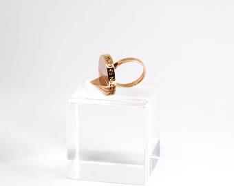 Coordinate Ring | Rose Gold Ring | Custom Coordinates | Latitude Longitude | GPS Coordinates | Personalized Ring | Anniversary Gift