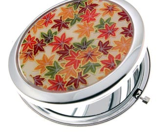 Autumn Chiyogami. Compact Mirror