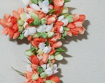 Spring cross wreath