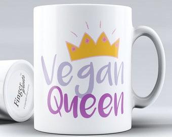 Vegan Queen Mug - plant based veggie
