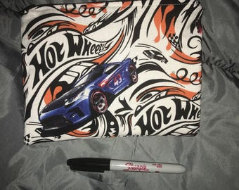 Hot wheels zippered bag