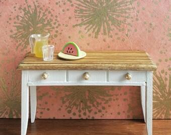 SALE % Dollhouse Miniature Kitchen Table Middie Blythe 1:8 scale
