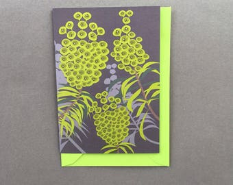 Flower Greeting Card - euphorbia card - blank card - card for gardener -  card - floral note card, contemporary flower card - Alison Bick