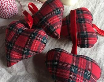 Hearts red tartan