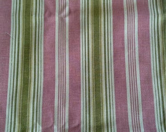 Waverly Rodeo Drive Striped Cotton Home Decor Fabric 1 1/4 Yard X1085