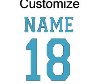 Add Name & Number- Customize
