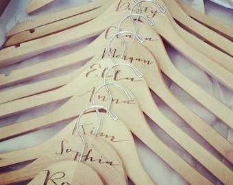 Engraved Bride Hanger Natural Wood Wedding Dress Hanger #DownInTheBoondocks