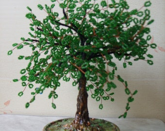 Handmade beaded tree. Tree of life. Wire tree. Christmas tree. Gift for women. Christmas ornaments. Most popular item. Tree sculpture