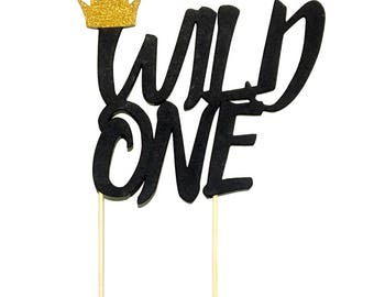 1 pc gold crown WILD ONE cake topper wild one where the wild things are theme first birthday cake smash