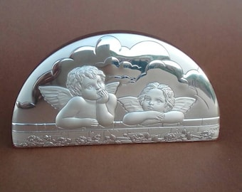 Table top in silver with Angels