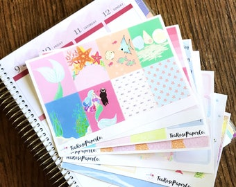 Life Is The Bubbles Weekly Sticker Kit (Erin Condren Life Planner - Vertical)
