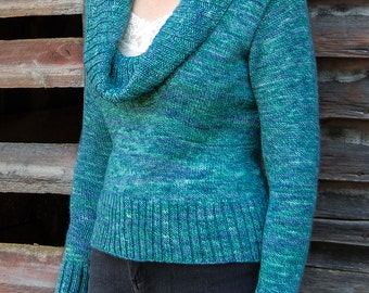 PDF Knitting Pattern Acadia Top-Down Pullover #102