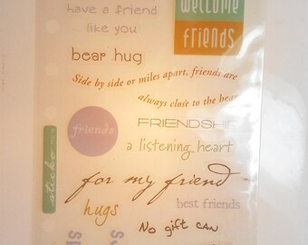 Friends Are Flowers-Phrase Cafe/Scrapbooking Stickers- photo safe