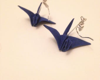 Cranes (velor) [ Origami earrings ]