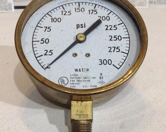 Vintage Water Pressure Gauge