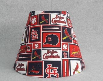 Baseball lamp can now be personalized with a name made st louis cardinals lamp shade baseball mozeypictures Choice Image