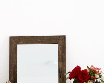 Wood Mirror, Rustic Wall Mirror, Small Wall Mirror, Mirror, Rustic Mirror, Reclaimed Wood Mirror, Decorative Mirror, Farmhouse Decor, Boho