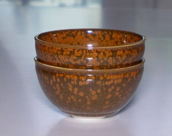 Porcelain bowl, iron crystalline glaze