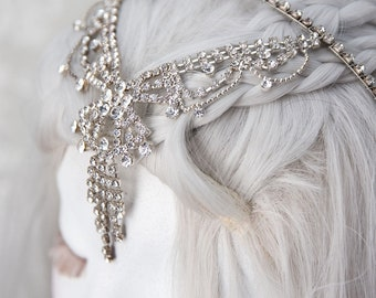Elven Circlet   Rhinestone Diva   Fantasy Cosplay, Rhinestone Headband, Fairytale Wedding, Fairy Crown, Renaissance Headpiece