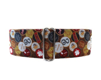 Beer Lovers Martingale Collar, Greyhound Martingale Collar, 1.5 Inch Martingale Collars, Beer Martingale Collar, Beer Dog Collar, Sighthound