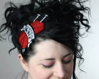 Tattoo Inspired Headband Knit in Red
