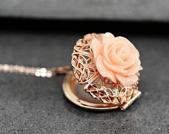 Shabby Locket Necklace (VIK-154)