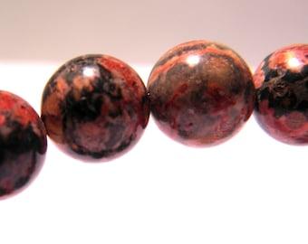 5 gorgeous 10 mm - gems-gemstones - PG216 Leopard skin Jasper bead